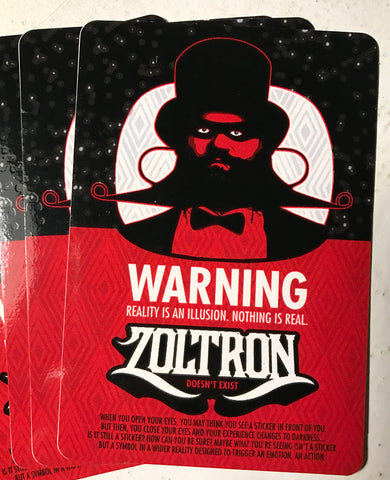 "(15) Zoltron ""Reality"" Stickers"