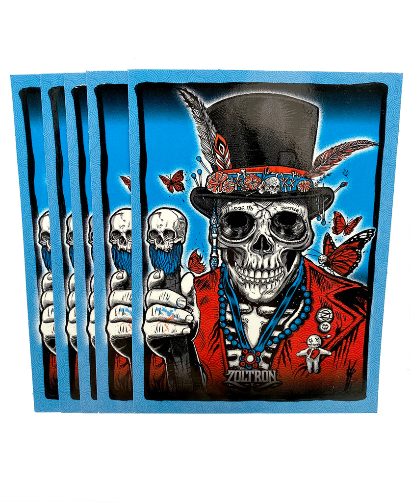 (5) Big Voodoo Stickers