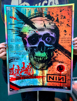 NIN - San Francisco - Rainbow Foil - Artist Proof