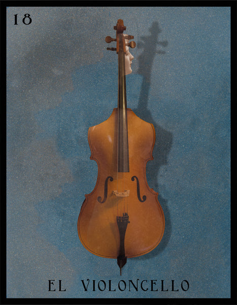 #18 EL VIOLONCELLO (The Cello) by artist Liz Huston
