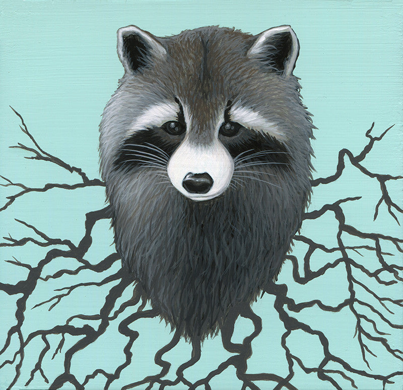 Raccoon Roots by artist Lena Sayadian