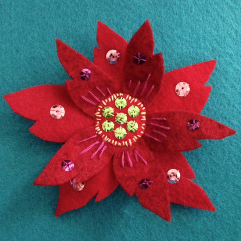 POINSETTIA BROOCH #2 by artist Ulla Anobile