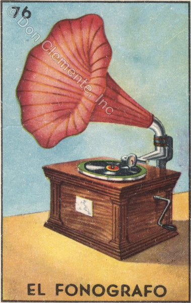 #76 EL FONOGRAFO (The Phonograph) by artist Liz Huston