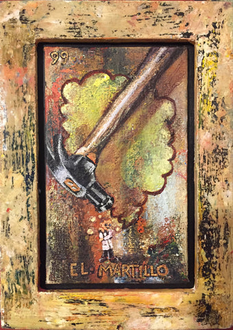 EL MARTILLO #99 (The Hammer) ~ Klaus Conrad Has An Apophany ~ by artist Andrea Bogdan