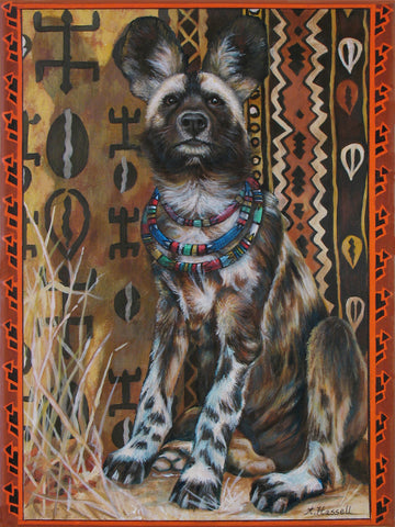 African Wild Dog by artist Annette Hassell