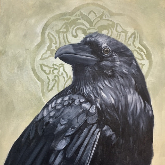 Crow with Halo by artist Bryan Holland