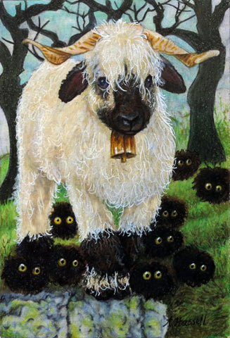 BLACKNOSED SHEEP by artist Annette Hassell