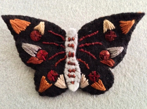 """Black Butterfly Pin #2 Copper I"" by artist Ulla Anobile"