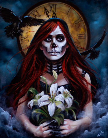 #14 LA MUERTE / Almost Midnight (Death) by artist Catherine Bursill Moore