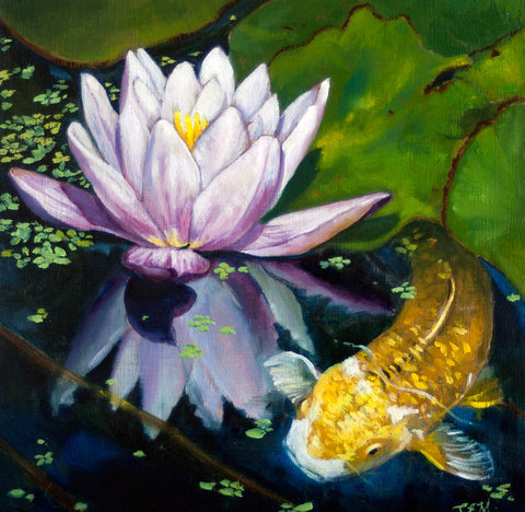 At the Pond by artist Catherine Bursill Moore