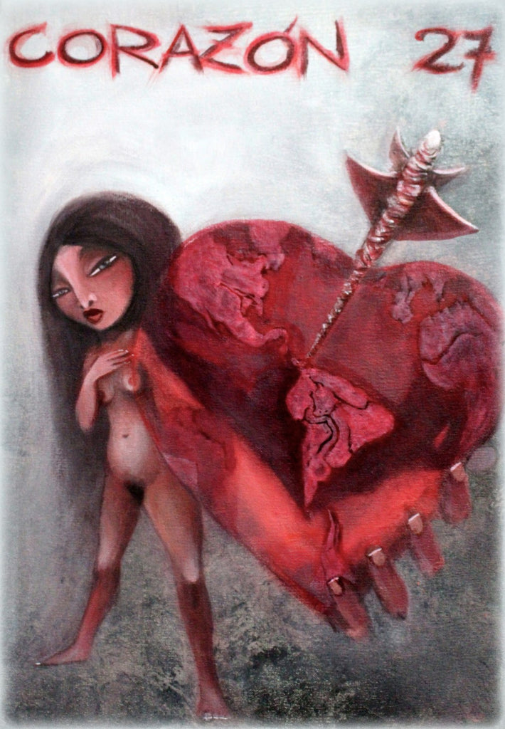 EL CORAZÓN (The Heart) #27 by artist Patricia Krebs