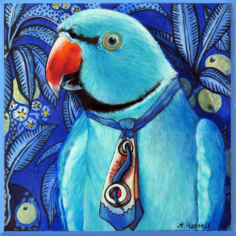 COOL PARROT by artist Annette Hassell