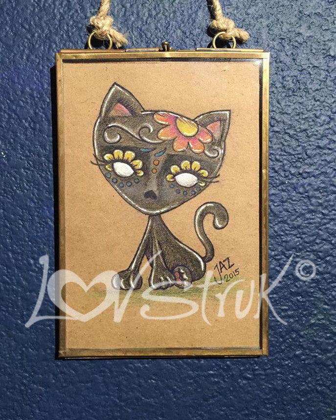 """DOTD Black Kitty"" by artist Jazmin Molina"