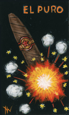 EL PURO (The Cigar) #77 by artist Holly Wood