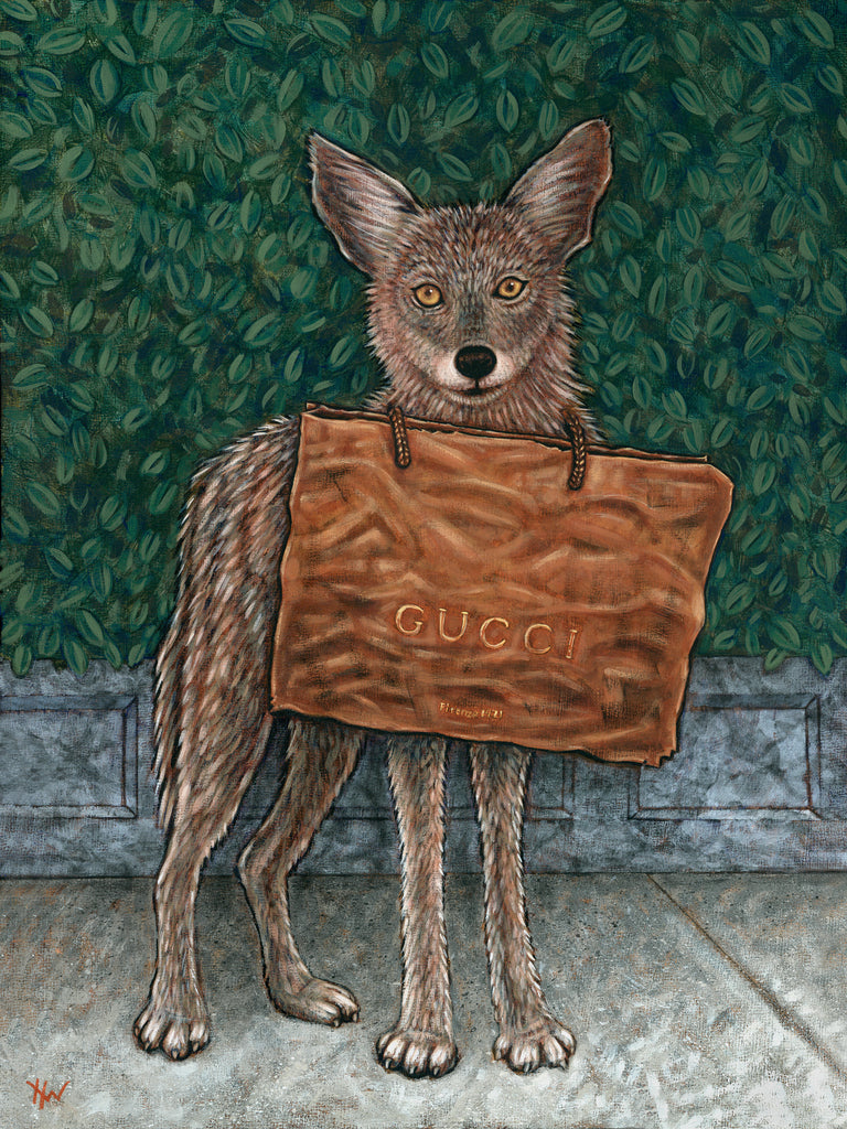 Gucci Coyote by artist Holly Wood