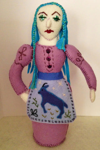FAIRY WITH TURQUOISE HAIR by artist Ulla Anobile