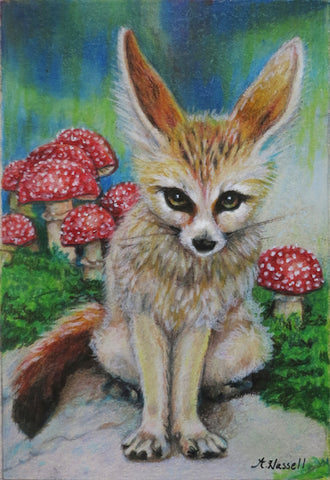 FENNEC FOX by artist Annette Hassell