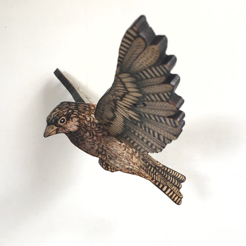 FINCH IN FLIGHT by artist Samantha Jane Mullen
