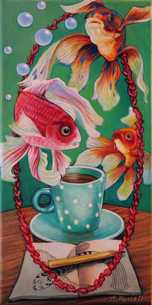 Flight of Fancy Fish by artist Annette Hassell