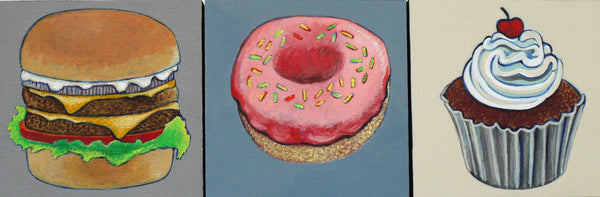 FOODS FOR PHINEUS, DONUT by artist Janet Olenik