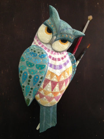 OWL ARTIST (Color Choices) by artist Ulla Anobile