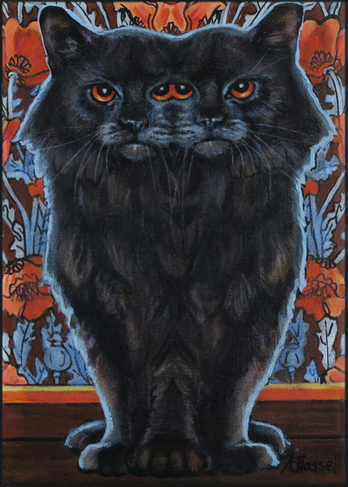 FUNHOUSE MIRROR CAT by artist Annette Hassell