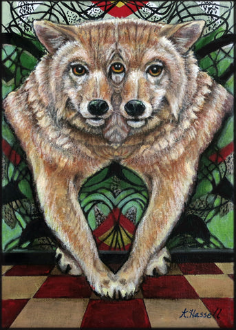 FUNHOUSE MIRROR COYOTE by artist Annette Hassell