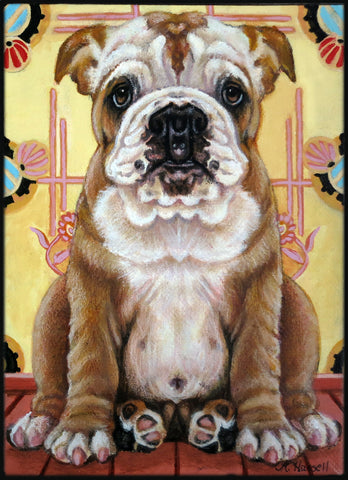 FUNHOUSE MIRROR PUPPY by artist Annette Hassell