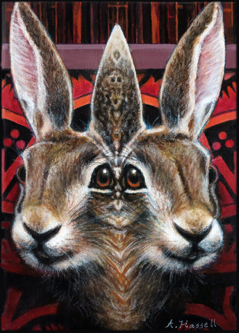FUNHOUSE MIRROR RABBIT by artist Annette Hassell