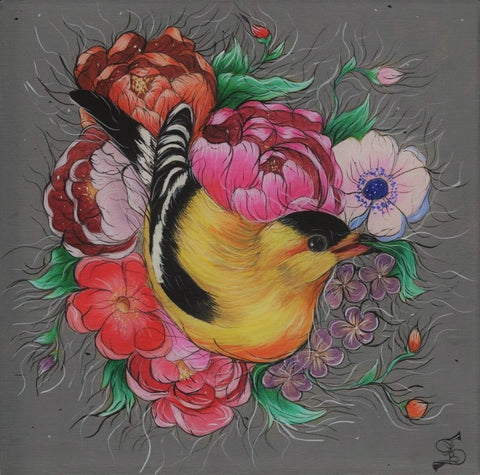 THE GOLDEN FINCH by artist Skye Becker-Yamakawa
