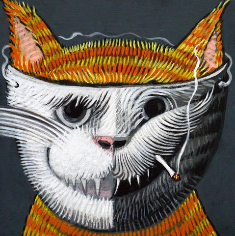 GOOD KITTY BAD KITTY by artist Janet Olenik