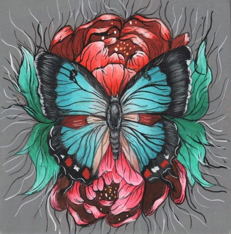 IMPERIAL BLUE BUTTERFLY by artist Skye Becker-Yamakawa