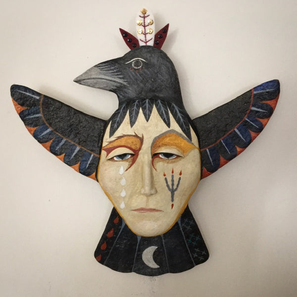 RAVEN CARRY MY TROUBLES by artist Ulla Anobile