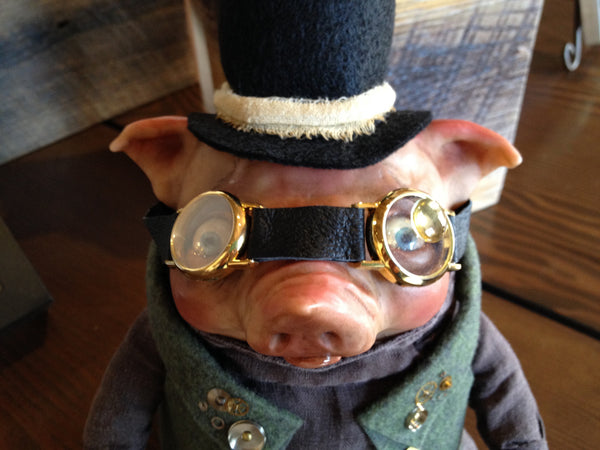 """Steam Punk Pig"" by featured artist Denise Bledsoe"