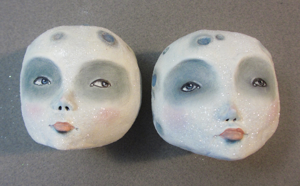 MOON A and B by artist Amber Leilani