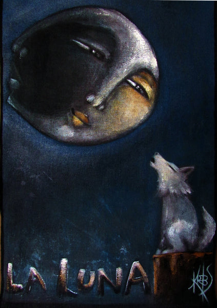 LA LUNA #23 (The Moon) by artist Patricia Krebs
