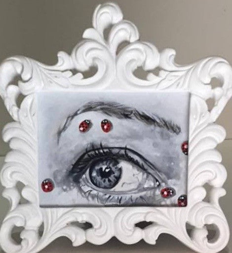 Ladybug Lovers Eye 1 by artist Cora Crimson