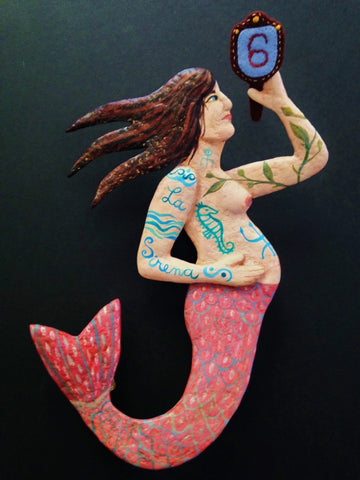 La sirena #6 (The Pregnant Mermaid) by artist Ulla Anobile