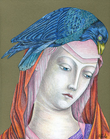 Madonna of the Birds #10 by artist Donna Abbate