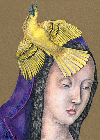 Madonna of the Birds #9 by artist Donna Abbate