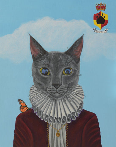 PORTRAIT OF THE DUKE OF PURRINGTON, ON THE OCCASION OF HIS INVESTITURE INTO THE ANCIENT AND ROYAL ORDER OF MOUSING by artist Michelle Waters