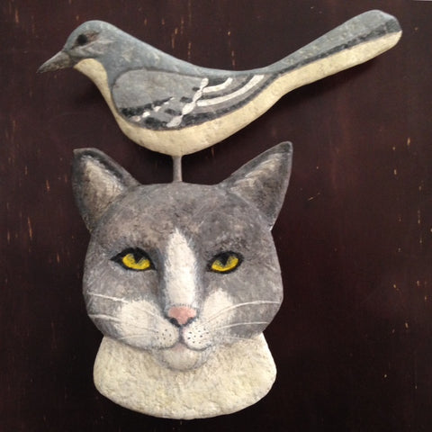 THIS FACE (Muru and the Mockingbird) by artist Ulla Anobile