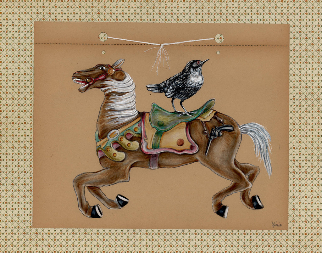 Nunley's Carousel for Birds #5 by artist Donna Abbate