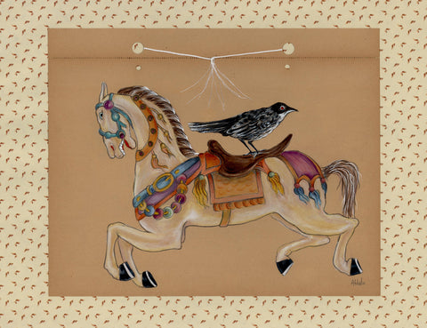 Nunley's Carousel for Birds #7 by artist Donna Abbate
