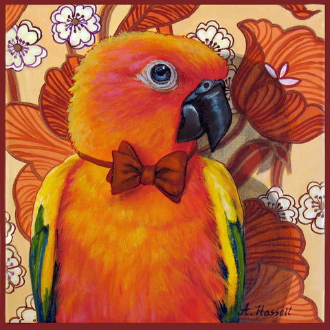 ORANGE PARROT by artist Annette Hassell