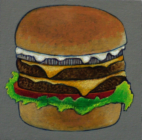 FOODS FOR PHINEUS, CHEESEBURGER by artist Janet Olenik