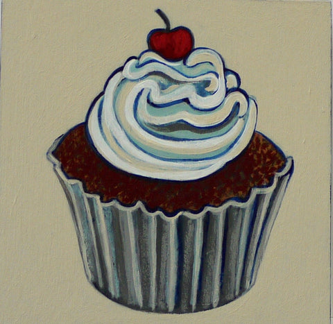 FOODS FOR PHINEUS, CUPCAKE by artist Janet Olenik