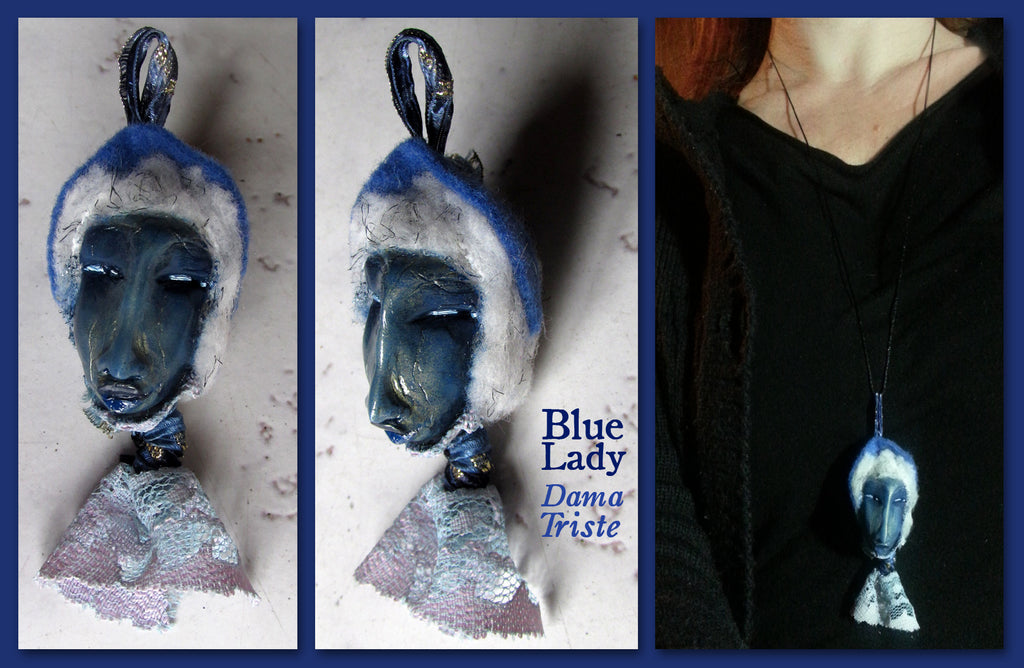Blue Lady Pendant by artist Patricia Krebs