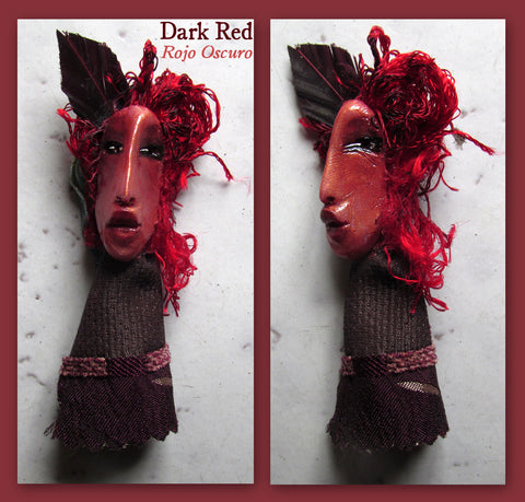 Dark Red Pendant by artist Patricia Krebs