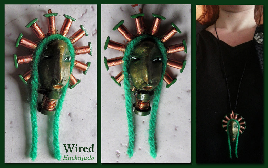Wired Pendant by artist Patricia Krebs